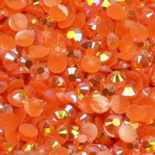 3/4mm Orange Iridescent AB Diamanté Rhinestone Embellishments